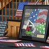 BRYAN EATON/Staff photo. U.S. Army staff sergeant (Ret.) Zeke Crozier's artwork.