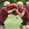 CARL RUSSO/staff photo. NEWBURYPORT NEWS: The Newburyport high school Clippers held football practice Friday afternoon. 8/17/2018