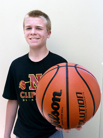 BRYAN EATON/Staff photo. Finn Sullivan has been tabbed as probably the top male athlete in his class going into Newburyport High. He plays football and basketball.