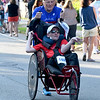 JIM VAIKNORAS/Staff photo  Rick Hoyt pushes his son Dick at the start in the Newburyport Lions Club Yankee Homecoming Road Race.
