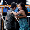 JIM VAIKNORAS/Staff photo Minda and Manher Jariwala of Boston dance to the sounds of the Compaq Jazz Band Saturday night in Market Landing Park.