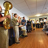 BRYAN EATON/Staff photo. The Dick Kaplan Excellent Jazz Band performs at Country Manor in the Yankee Homecoming Nursing Home Concert Series.