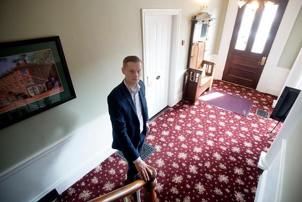 JIM VAIKNORAS/Staff photo Alexander Thomson , manager of the Essex Inn in Newburyport.