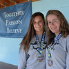 BRYAN EATON/Staff photo. Triton softball players Bridget Sheehan, left, and Colleen McCarthy.