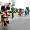 JIM VAIKNORAS/Staff photo A Mummers group from Philadelphia makes their way down Walton Road in the Seabrook's 250th Day parade Saturday.