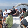 BRYAN EATON/Staff photo. Opportunity Works clients and staff on the catamaran Impossible Dream.
