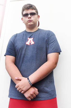 BRYAN EATON/Staff photo. Incoming freshman Tony D'Arcangelo is a football player at Amesbury High School.