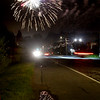JIM VAIKNORAS/Staff photo The Yankee Homecoming fireworks explode over a lonely stretch Graf Road in Newburyport Saturday night.