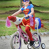BRYAN EATON/Staff photo. Elisa McBee, 5, of Uxbridge dressed as Supergirl.