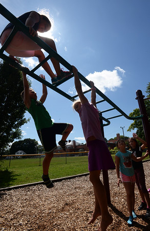 BRYAN EATON/Staff Photo. Youngsters at the Boys and Girls Club were hanging around on the last days of summer vacation on Thursday afternoon. The club's summer program ends on Friday as students head back to school next week, though Amesbury started this past Wednesday. The club's afterschool programs reopen on September 9.