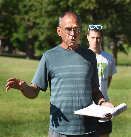 BRYAN EATON/Staff Photo. Longtime Newburyport High School cross country coach Don Hennigar.