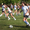 BRYAN EATON/Staff Photo. Newburyport High School girls soccer team in tryouts.