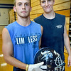 BRYAN EATON/Staff Photo. Returning Triton High football players Ethan Tremblay, left, and Kyle Odoy.