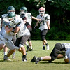 BRYAN EATON/Staff Photo. Pentucket High School football team in practice on Thursday morning.