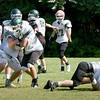 BRYAN EATON/Staff Photo. Pentucket High School football team in practice on Thursday morning.