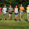 BRYAN EATON/Staff Photo. Newburyport High cross country runners, from left, John Lucey, Peter D'Ambrosio, Peter King, Chris O'Donnell, Jack Chambers, Cam Lasson, Dreese Fadil and TJ Carleo.