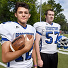 BRYAN EATON/Staff Photo. Returning quarterback Stephen MacDonald, left, and lineman Josh Kennedy.