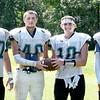 BRYAN EATON/Staff Photo. Pentucket High football captains, from left, Jacob Codair, Austin Senfleben, Jake Etter and Peter Cleary.