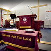 BRYAN EATON/Staff photo. The sanctuary in the Newburyport chapter of the Salvation Army.