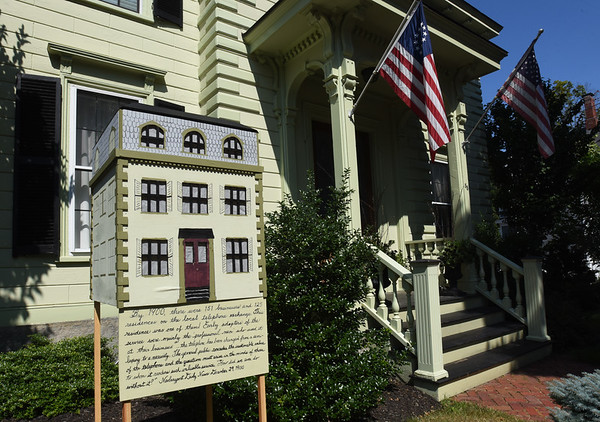 BRYAN EATON/Staff Photo. This model gives a history of the house behind it at 88 High Street in Newburyport.