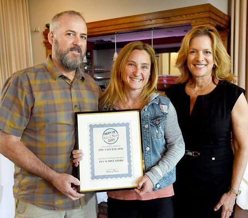 BRYAN EATON/Staff Photo. The Natural Dog won For Best Pet Supply Store.