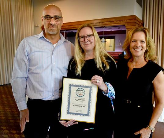 BRYAN EATON/Staff Photo. M.K. Benatti won For Best Jewelry Store.