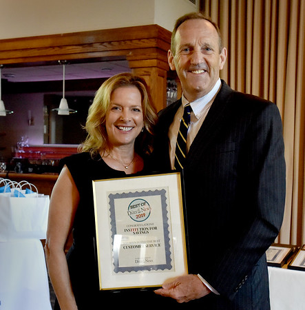 BRYAN EATON/Staff Photo. The Institution For Savings won as Best Customer Service.