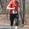 JIM VAIKNORAS/Staff photo Leanne Candura wins the Tortoise and Hare 10K Race at Lions Park  in Salisbury Saturday morning.