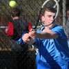 Byfield: Triton's Travis Mihalchick in first singles action with Haverhill. Bryan Eaton/Staff Photo