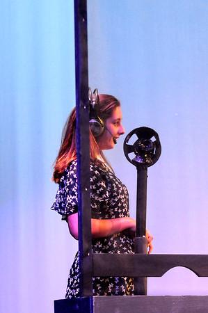 "JIM VAIKNORAS photo  Isa Garcia as Kathy Selden in the Nock Middle School production of ""Singing in The Rain"""