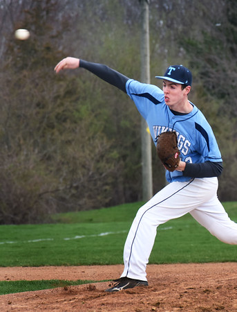 BRYAN EATON/Staff photo. Triton pitcher Jack McCarthy.