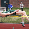 BRYAN EATON/Staff photo. Pentucket high jumper Ellison Seymour in a pentathon at her high school.