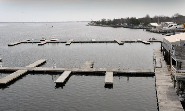 BRYAN EATON/Staff photo. The Newburyport waterfront from the Gillis Bridge.
