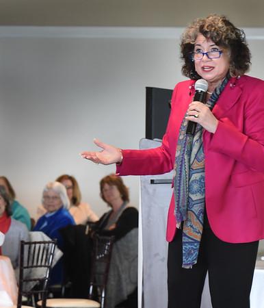 "BRYAN EATON/Staff photo. Humorist Gina Barreca was guest speaker at the YWCA Engaging Communities Luncheon ""Empowering Women."""