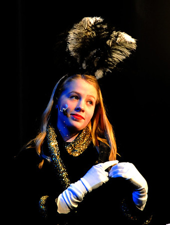 "JIM VAIKNORAS photo  Lila Gridley as Zelda, in the Nock Middle School production of ""Singing in The Rain""."
