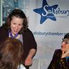 ANGELJEAN CHIARAMIDA/Staff photo.  State Sen. Kathleen O'Connor Ives, D-Newburyport, chats with members of the Salisbury Chamber of Commerce before  Monday night's meeting held at Vasa.
