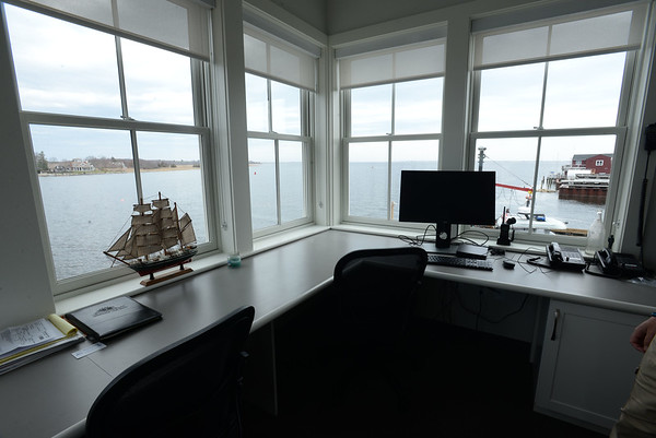 BRYAN EATON/Staff photo. View of the Merrimack River from the second floor offices.
