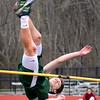 BRYAN EATON/Staff photo. Pentucket high jumper Jack Clohisy competes in a pentathon.