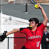 JIM VAIKNORAS photo North Andover's Julia Chittich pitches against Newburyport at Pioneer Park in Newburyport Thursday.