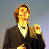 "JIM VAIKNORAS photo  Vincent KcKeown as Don Lockwood, in the Nock Middle School production of ""Singing in The Rain"""
