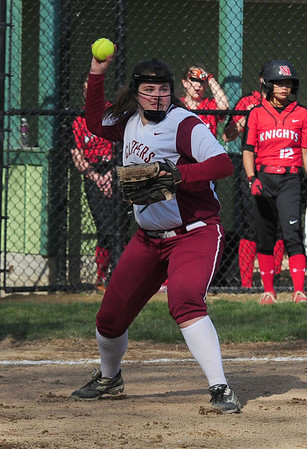 JIM VAIKNORAS photo Newburyport's Colleen Twomey makes a play on a bunt during the Clippers game against North Andover at Pioneer Park in Newburyport Thursday.