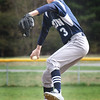 BRYAN EATON/Staff photo. Triton pitcher Dylan Copeland winds up against Pentucket.