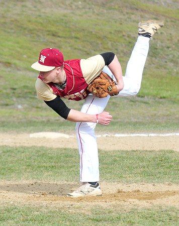 JIM VAIKNORAS photo Newburyport's Brian Hadden pitches against Gloucester during their game at Stage Fort Park in Gloucester Saturday.