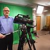 BRYAN EATON/Staff photo. Lance Wisniewski of Salisbury Community TV in their new studio.