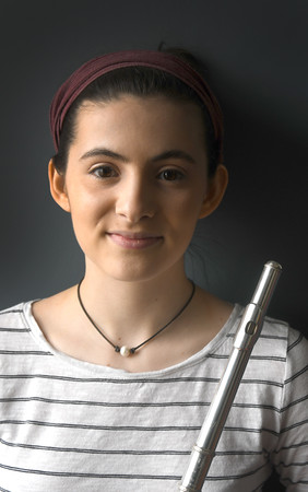 JIM VAIKNORAS/Staff photo 	Delia Zaleski was recently accepted to Interlochen Arts Academy in Michigan for flute performance.