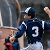 JIM VAIKNORAS/Staff photo  Triton pitcher Andrew Maiuri during their game at Masconomet Tuesday.