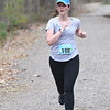 JIM VAIKNORAS/Staff photo Kristin Borrero wins the  Tortoise and Hare 10K at the Rail Trail in Salisbury Saturday.