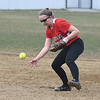 JIM VAIKNORAS/Staff photo Amesbury's Abby Aponas bare hands a grounder against Mascomonet at Amesbury Middle School Friday.