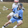 JIM VAIKNORAS/Staff photo Triton's John D'Eufemia controls the ball against Masco during their game Tuesday in Masco.