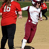 BRYAN EATON/Staff photo. Newburyport's Sarah Linehan rounds third base on her way to a homerun.